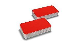 Cartão Pvc Vermelho Pacote com 100UN 54x86mm Espessura 0,76mm
