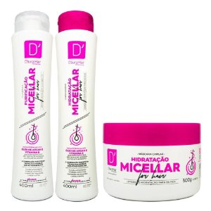 Kit D'Oura Hair PURIFICAÇÃO MICELLAR FOR HAIR - Sham + Cond + Másc Capilar