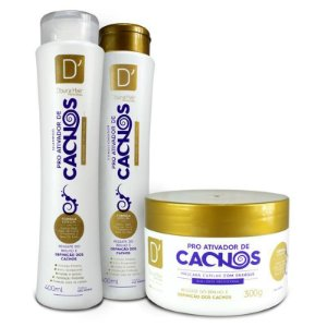 Kit D'oura Hair PRÓ-ATIVADOR DE CACHOS - Sham + Cond + Másc Capilar
