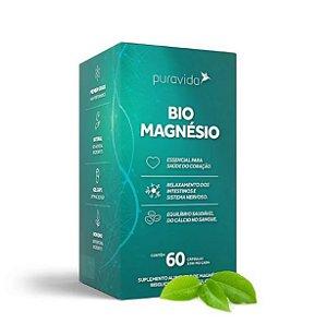 BIO MAGNESIO - MAGNÉSIO BIODISPONÍVEL 60 CAPS - PURAVIDA