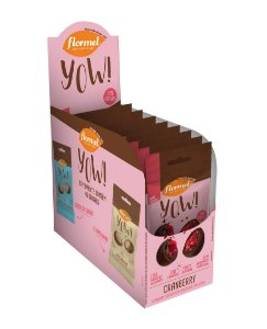 TESTE YOU DE CRANBERRY FLORMEL - Display contendo 8 unidades - 320g.