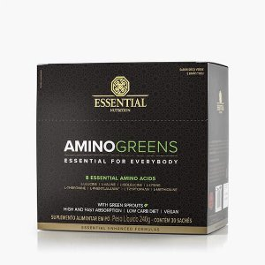 AMINO GREENS BOX 240G ESSENTIAL - Box c/ 30 sachês de 8g