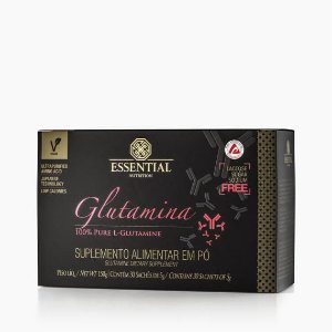 GLUTAMINA BOX 150g ESSENTIAL - Box c/ 30 sachês de 5g 100% Pura L-Glutamina