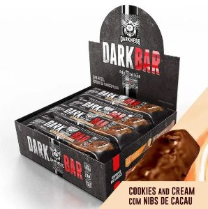 DARK BAR PROTEIN COOKIES AND CREAM C/ NIBS DE CACAU 24G DE PROTEÍNA (9 UNIDADES) - INTEGRAL MÉDICA