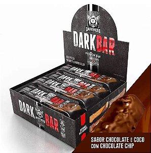 DARK BAR PROTEIN CHOCOLATE E COCO COM CHOC. CHIP 24G DE PROTEÍNA (9 UNIDADES) - INTEGRAL MÉDICA