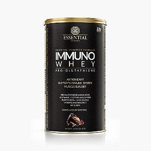 IMMUNO WHEY CACAO 465g | 15 doses Whey Protein Hidrolisado e Isolado + Precursores da Glutationa - ESSENTIAL