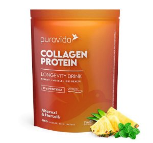 COLLAGEN PROTEIN ABACAXI & HORTELÃ 450G - PURAVIDA