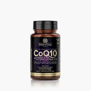 COQ10 60 cápsulas | 30 doses Coenzima Q10 + Ômega-3 TG + Natural Vitamin E - ESSENTIAL