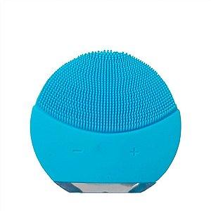 Esponja Para Limpeza Facial e Massageador Eletrico- Azul