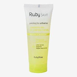 Sabonete Gel de Limpeza Facial Proteção Urbana Remove a Poluição Ruby Rose cód.HB326