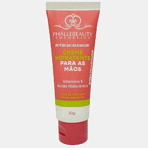 Creme Hidratante Para Mãos com Vitamina E e Acido Hialuronico  Phallebeauty 50g