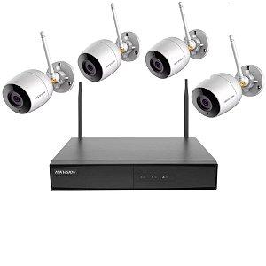 Kit Hikvision Wi-fi Ip 4 Câmeras Bullet 1 Nvr Nk4w0 e Hd 1tb