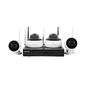 Kit Hikvision 4 Câmeras 1080p NVR Wi-Fi NK4W2 Com Hd 1Tb