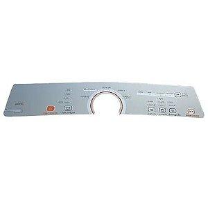 Painel Adesivo Decorativo Compativel Lavadora BWG11 A/B Prata Inox Claro W10463584