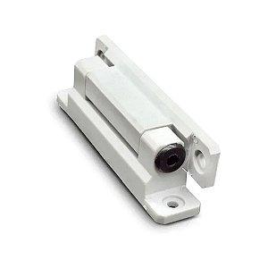 Dobradica Aluminio Com Mola Branca 11CM para porta de geladeira