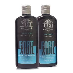 Shampoo e Bálsamo Fortxidil Thesgo Barber