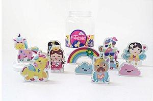 Brinquedo e embalagem Kit Unicórnios