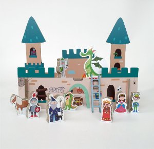 Brinquedo e embalagem Castelo Medieval
