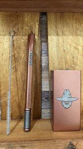 Kit Copo quadrada e bomba quadrada rose - Velho Jack