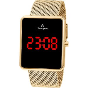 Relógio Champion Digital LED Dourado CH40080V