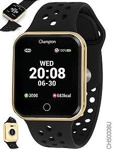 Relógio Smartwatch Champion Bluetooth 4.0 Preto e Dourado