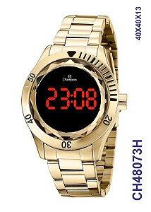 Relógio Digital LED Dourado - CH48073H