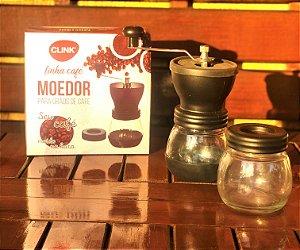 Moedor de café com pote de acrílico