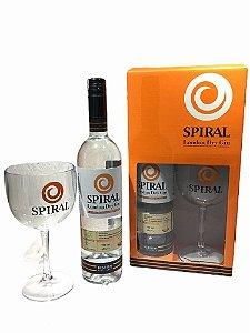 Kit Gin Spiral 750ml + Taça de vidro