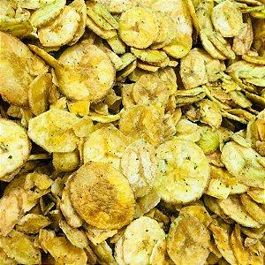 Chips de banana com cebola e sala 100g