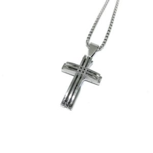 Colar Crucifixo Future Silver Minimalista [aço Premium]