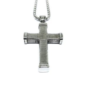 Crucifixo Guerreiro aço Premium