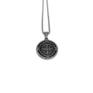 Medalha de São Bento aço Premium [alto relevo]