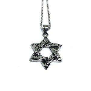 Colar aço Premium Estrela de Davi