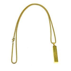 Colar Oração do Pai Nosso Gold Minimalista [aço Premium]