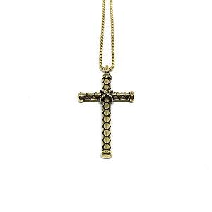 Colar Crucifixo True Life Gold Realismo [aço Pemium]
