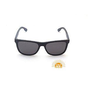 Óculos de Sol Retangular Preto Fosco Lente Black Total Afrikan