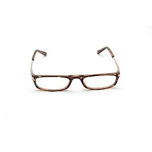 Armação para Óculos de Leitura Estampa Marrom