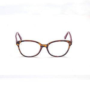 Armação para Óculos de Grau Feminino Tartaruga Marrom Afrikan