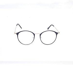 Armação para Óculos de Grau Feminino Redondo Metal Black