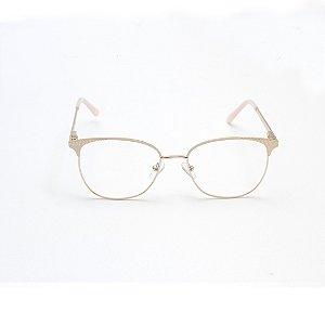 Armação para Óculos de Grau Feminino Redondo Off-White Afrikan