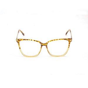 Armação para Óculos de Grau Quadrado Estampa em Caramelo Afrikan