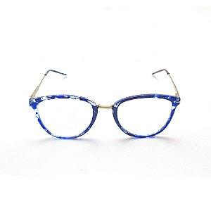 Armação para Óculos de Grau Feminino Azul Suzana