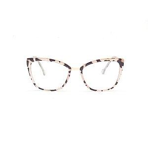 Armação para Óculos de Grau Gatinho Tartaruga Rose