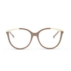 Armação para Óculos de Grau Feminino Redondo Nude Off