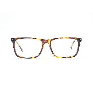 Armação para Óculos de Grau Retangular Estampa Tartaruga