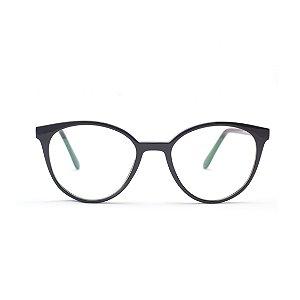 Armação para Óculos de Grau Feminino Redondo Preto