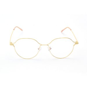 Armação para Óculos de Grau Oval em Metal Pequena