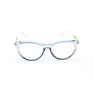 Armação para Óculos de Grau Gatinho em Acrílico Verde