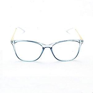 Armação para Óculos de Grau Retangular em Acrílico Verde