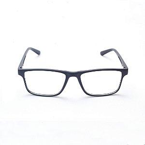 Armação para Óculos de Grau Masculino Acetato Retangular Preto Fosco